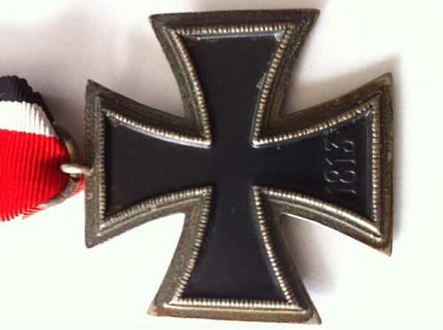 Eisernes Kreuz 2. Klasse, one piece construction