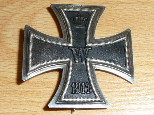 One more fake 1st class Iron Cross?!