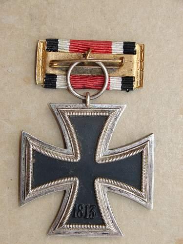 metal framed ribbon bar iron cross