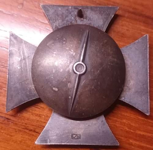Eisernes Kreuz 1. Klasse, L/50 Godet Screw Back