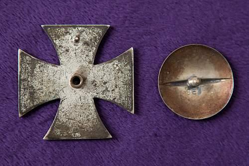Eisernes Kreuz 1. Klasse, L/16 Screwback
