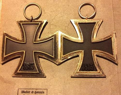 Two Eisernes Kreuz 2. Klasse for compare