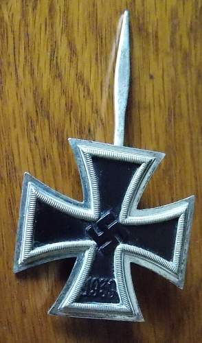 Eisernes Kreuz 1. Klasse, true or false?