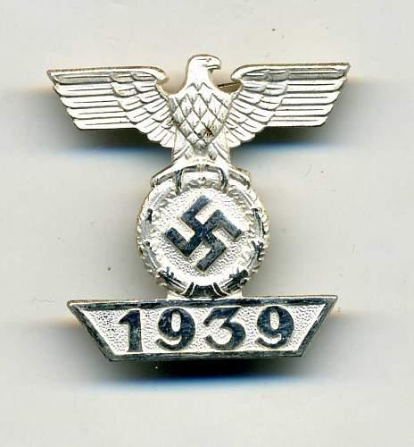 1939 Spange zum Eisernen Kreuzes 2er Klasse 1914,  Need help