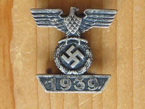 1939 Spange zum Eisernen Kreuzes 2er Klasse 1914, Unmarked