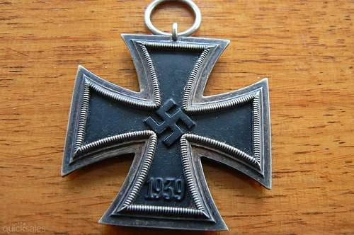 Click image for larger version.  Name:GERMAN WW11 IRON CROSS 2nd CLASS Wide shape.jpg Views:11 Size:126.6 KB ID:839517