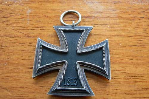 Click image for larger version.  Name:GERMAN WW11 IRON CROSS 2nd CLASS  Wide shape 2.jpg Views:10 Size:126.3 KB ID:839518