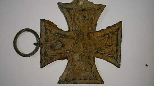 Eisernes Kreuz ground dug relic