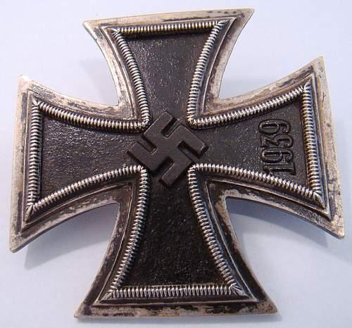 Eisernes Kreuz 1. Klasse, Souval - - Pin mark 65