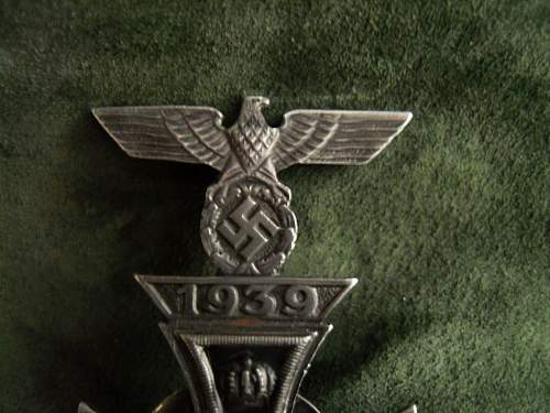 Wwii iron cross with spange