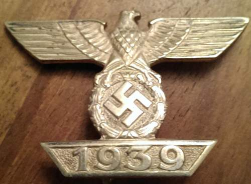 1939 Spange zum Eisernen Kreuzes 1er Klasse 1914, Mayer