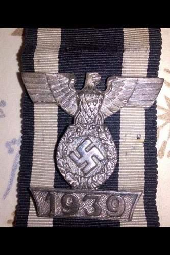 1939 Spange zum Eisernen Kreuzes 2er Klasse 1914 good or bad ??