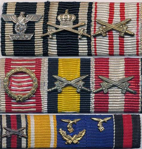 11 place ribbon bar