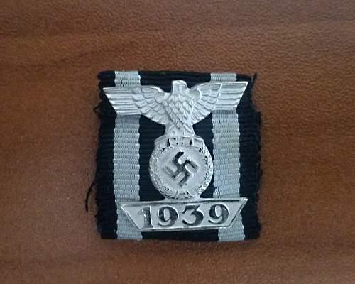 Spange zum Eisernen Kreuzes 2er Klasse 1914 for review