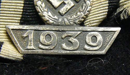1939 Spange zum Eisernen Kreuzes 2er Klasse 1914, Unmarked L/59, Alois Rettenmaier