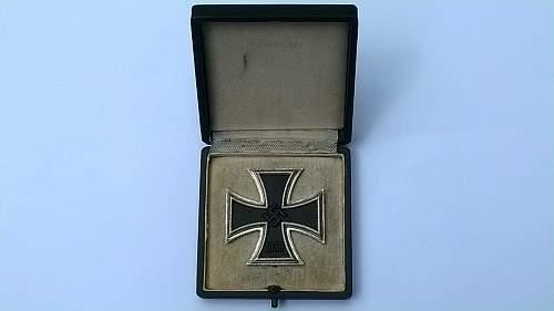 Eisernes kreuz 1 st class incl box (iron cross 1st class incl box)
