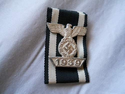 1939 Spange zum Eisernen Kreuzes 2er Klasse 1914 for review