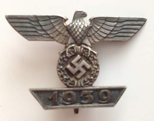 Maker of my new 1939 Spange zum Eisernen Kreuzes 1er Klasse 1914