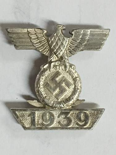 1939 Spange zum Eisernen Kreuzes 2er Klasse 1914 marked L/11