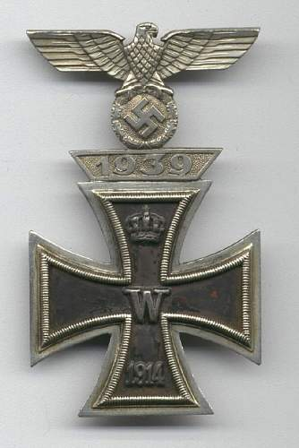 Eisernes Kreuz 1. Klasse mit 1939 Spange zum Eisernen Kreuzes 1er Klasse 1914 Combo Sets