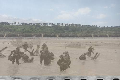 Omaha Beach then and now
