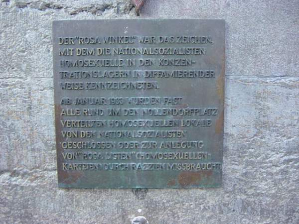New memorial to homosexuals murdered by the Nazis