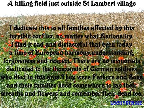 St Lambert Battle Normandy VC awarded. Then and Now.