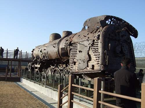 Bombed out Korean Train.