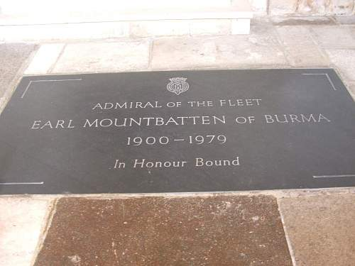 Grave of First Sea Lord. Lord Louis Mountbatten