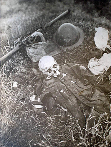 Remains of a British soldier