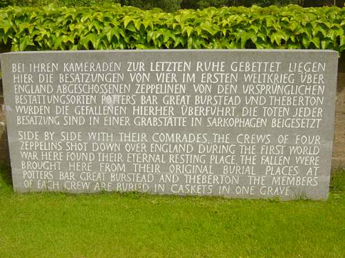 Visiting the German Military Cemetery, UK.
