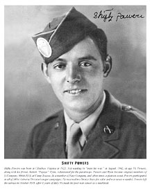"Darrell ""Shifty"" Powers 506 PIR Easy Company"