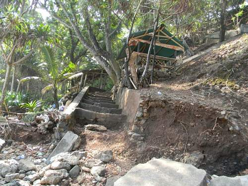 Japanese Gun Emplacement photos,, Indonesia