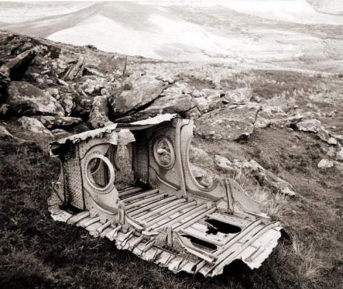 Luftwaffe remains on Mount Brandon, Ireland.