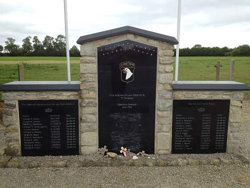 101st memorial at Brecourt Manor