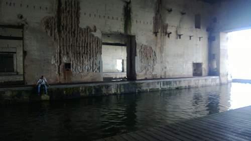 U boat pens Saint Nazaire