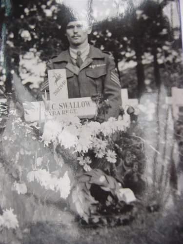 Don at Ben Swallows graveside..JPG
