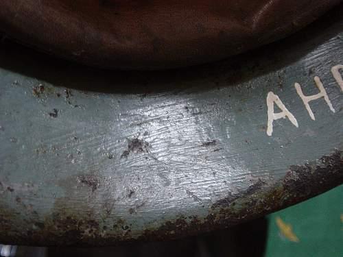 Museum. M40 helmet name detail..jpg