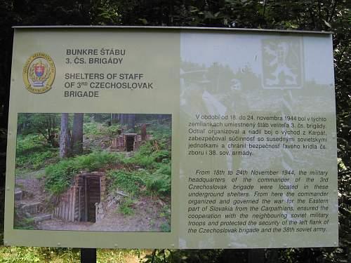 Shelters staff 3rd chechoslovak brigade