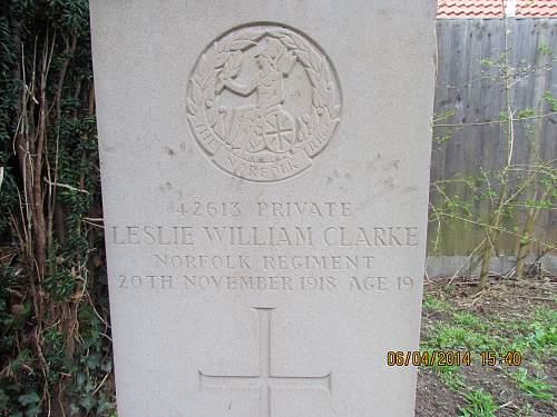 Norfolk Regiment Gravestone ..Any help please?