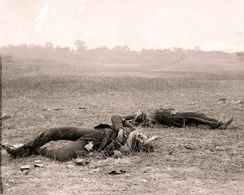 Click image for larger version.  Name:Gardner_Confederate_Dead_Antietam.jpg Views:1 Size:152.5 KB ID:817878