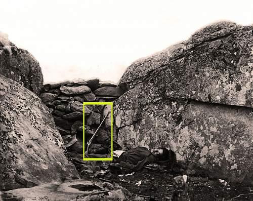 Click image for larger version.  Name:Confederate2Dead1Devil'sDen6GettysburgE6XZ.jpg Views:2 Size:183.0 KB ID:817903