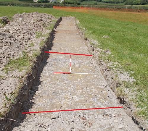 Digging a WW2 stopline in Wales