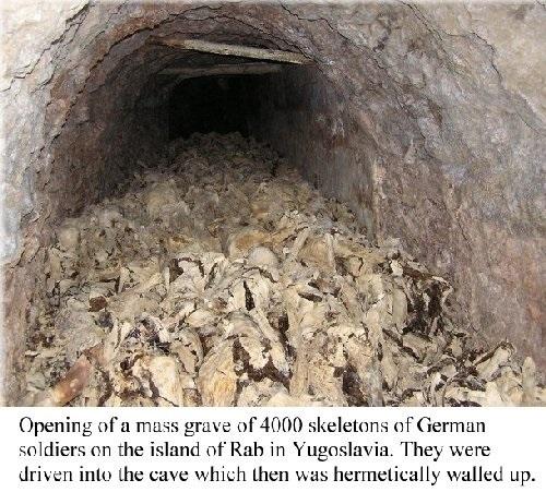Island of Rab war crimes 3,500 german soldiers entomed alive