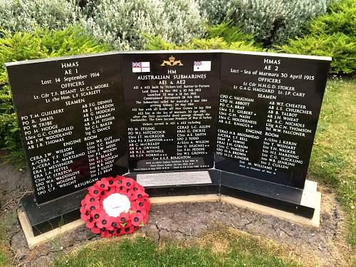 HM Australian Submarines AE1 & AE2 Monument Barrow in Furness