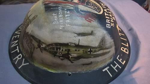 WW2 US painted helmet Airborne 101