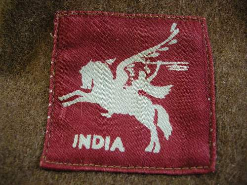WWII Indian airborne B.D. jacket