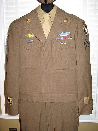 101st Airborne Ike Jacket Grouping