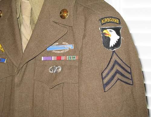 101st Airborne Ike Jacket Grouping...