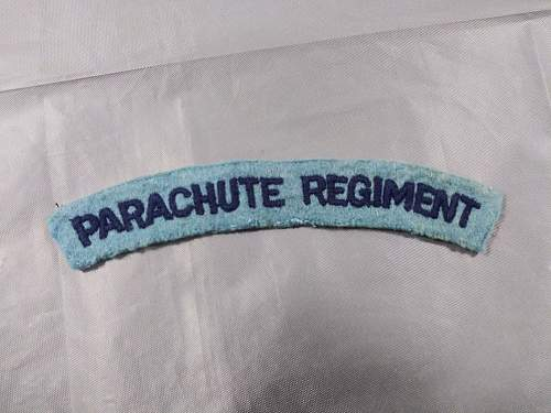 WW2 British Parachute Regiment Flash ?